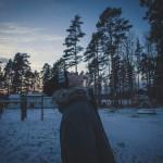 зима в малине
